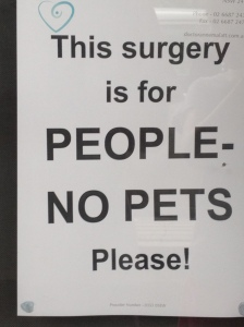 This is not a vet surgery
