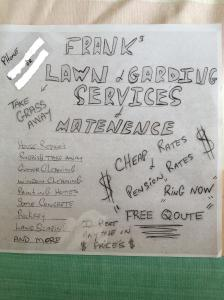 Frank's lawnmower service