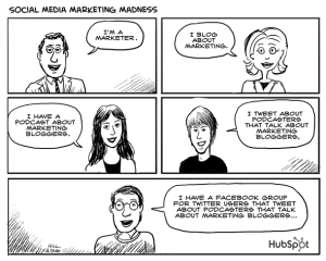 social media cartoon