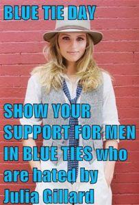 men in blue ties