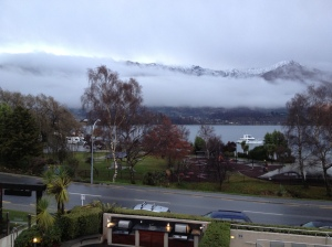 Part of our view of beautiful Wanaka