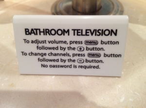 bathroom tv
