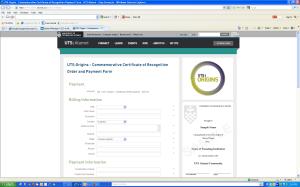 UTS certificate