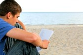 teenager reading letter