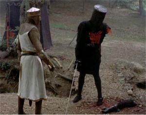 no problem kids, just a  flesh wound...
