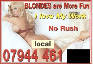 Londond prostitute I luv my work