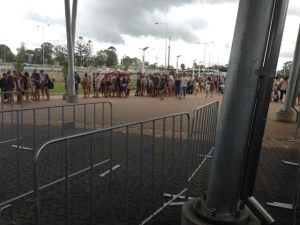 part of the queue for tickets