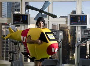 helicopter person